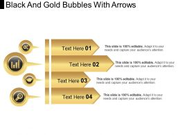 Black And Gold Bubbles With Arrows