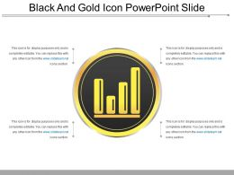 Black And Gold Icon Powerpoint Slide