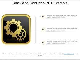 Black And Gold Icon Ppt Example
