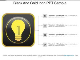 Black And Gold Icon Ppt Sample
