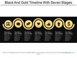 Black And Gold Timeline With Seven Stages