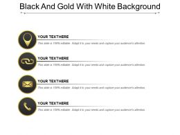 Black And Gold With White Background