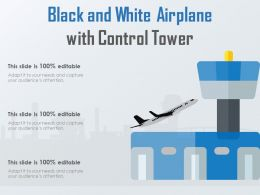 Black And White Airplane With Control Tower