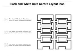 Black And White Data Centre Layout Icon