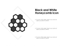 Black And White Honeycomb Icon