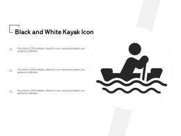 Black And White Kayak Icon