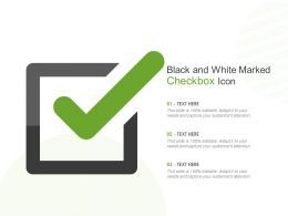 Black And White Marked Checkbox Icon