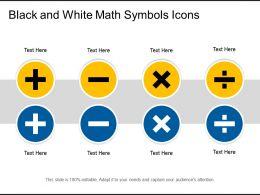 Black And White Math Symbols Icons