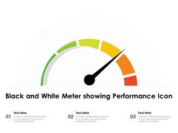 Black And White Meter Showing Performance Icon