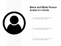 Black And White Person Avatar In A Circle