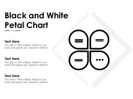 Black And White Petal Chart