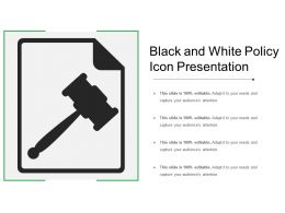 Black And White Policy Icon Presentation