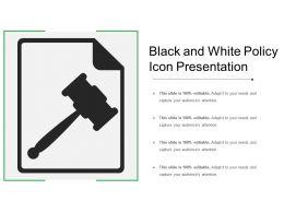 Black And White Policy Icon Presentation