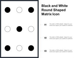 Black And White Round Shaped Matrix Icon