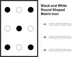 Black And White Round Shaped Matrix Icon