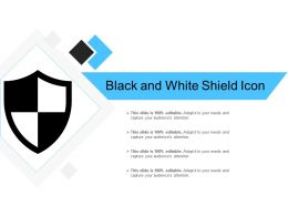 Black And White Shield Icon