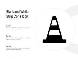 Black And White Strip Cone Icon
