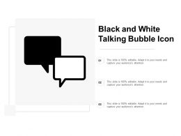 Black And White Talking Bubble Icon