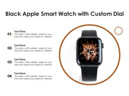 Black Apple Smart Watch With Custom Dial