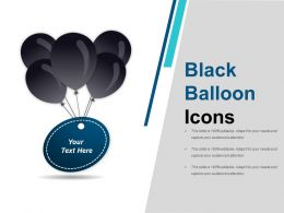 Black Balloon Icons