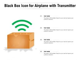 Black Box Icon For Airplane With Transmitter