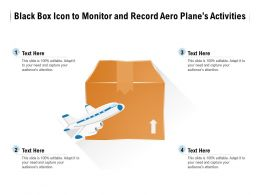 Black Box Icon To Monitor And Record Aero Planes Activities