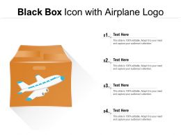 Black Box Icon With Airplane Logo