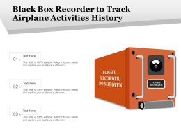 Black Box Recorder To Track Airplane Activities History