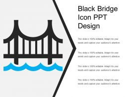 Black Bridge Icon Ppt Design
