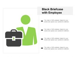 Black Briefcase With Employee