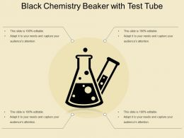 Black Chemistry Beaker With Test Tube