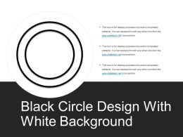 Black Circle Design With White Background