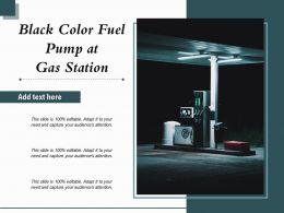 Black Color Fuel Pump At Gas Station