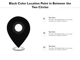 Black Color Location Point In Between The Two Circles