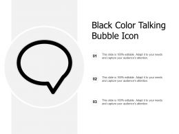 Black Color Talking Bubble Icon