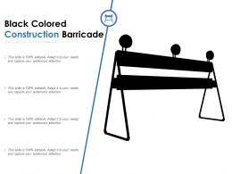 Black Colored Construction Barricade