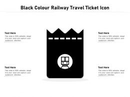 Black Colour Railway Travel Ticket Icon