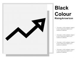 Black Colour Rising Arrow Icon
