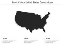Black Colour United States Country Icon