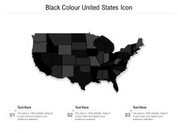 Black Colour United States Icon