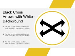Black Cross Arrows With White Background