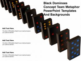 Black Dominoes Concept Team Metaphor Powerpoint Templates And Backgrounds