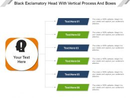 Black Exclamatory Head With Vertical Process And Boxes