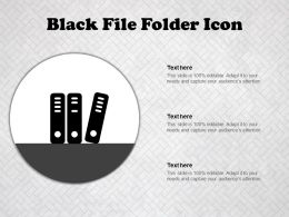 Black File Folder Icon