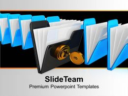 Black Folder With Keys Security Powerpoint Templates Ppt Themes And Graphics 0113