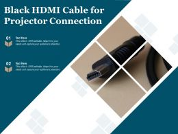 Black HDMI Cable For Projector Connection