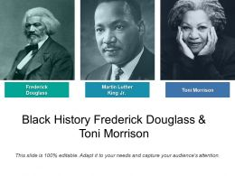 Black History Frederick Douglass And Toni Morrison