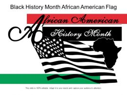 Black History Month African American Flag