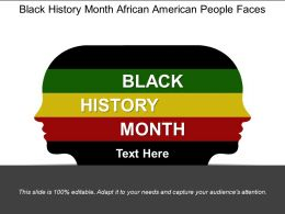 Black History Month African American People Faces
