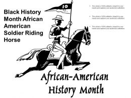 Black History Month African American Soldier Riding Horse